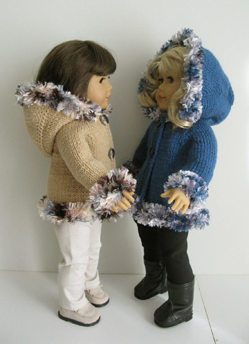 Doll Jacket Knitting Pattern : Hooded Jacket Knitting Pattern (052) - Knit N Play