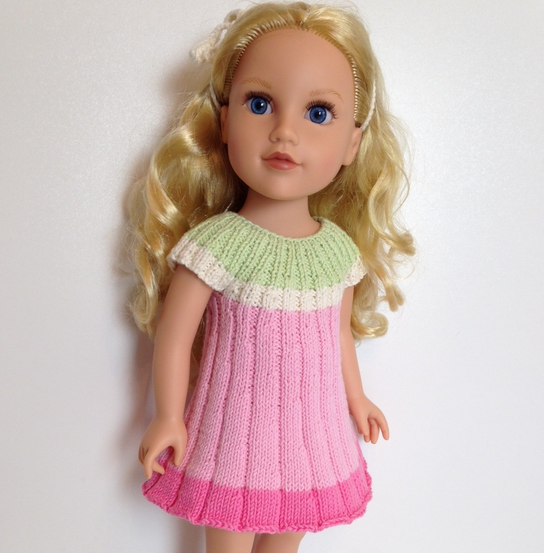 FLOWER dress Knitting Pattern fits 18\