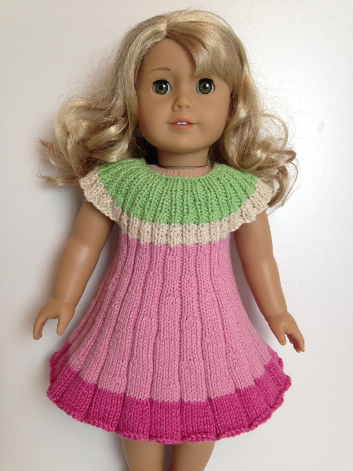 Flower dress knitting pattern fits 18 doll knit n play flower dress knitting pattern fits 18 doll bankloansurffo Images