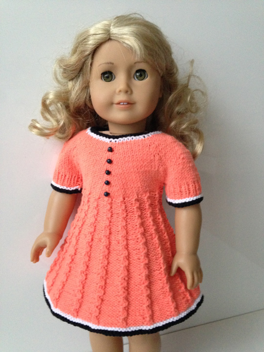 Delia Dress Knitting Pattern For 18 Inch Doll Knit N Play
